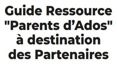 """L'UDAF62 est présentée dans le Guide Ressource """"Parents d'Ados"""" de l'arrageois"""