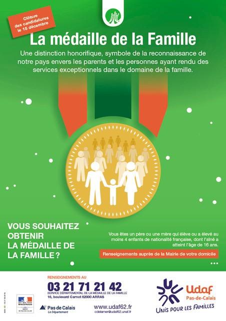 Affiche Médaille de la famille 2020